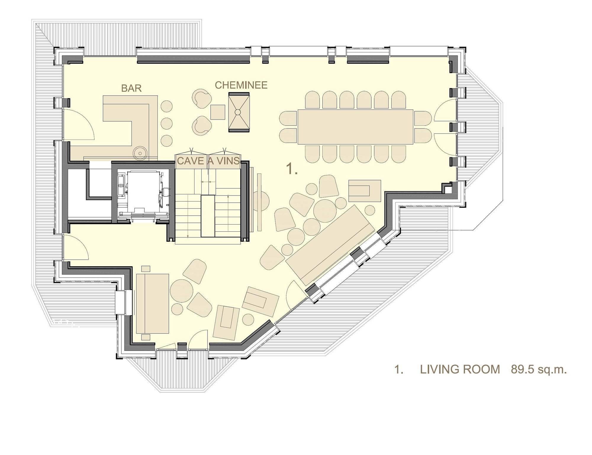 Chalet La Datcha Courchevel Floor Plan 2