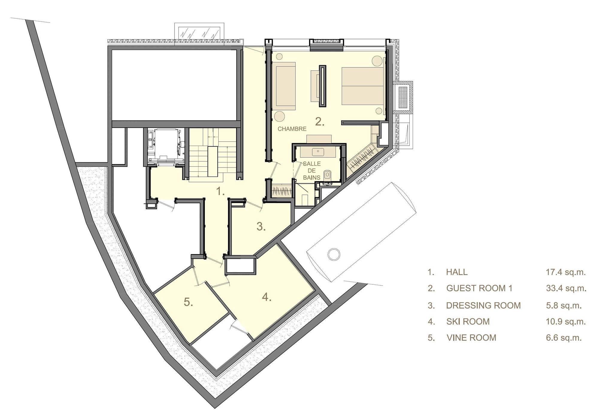 Chalet La Datcha Courchevel Floor Plan 4