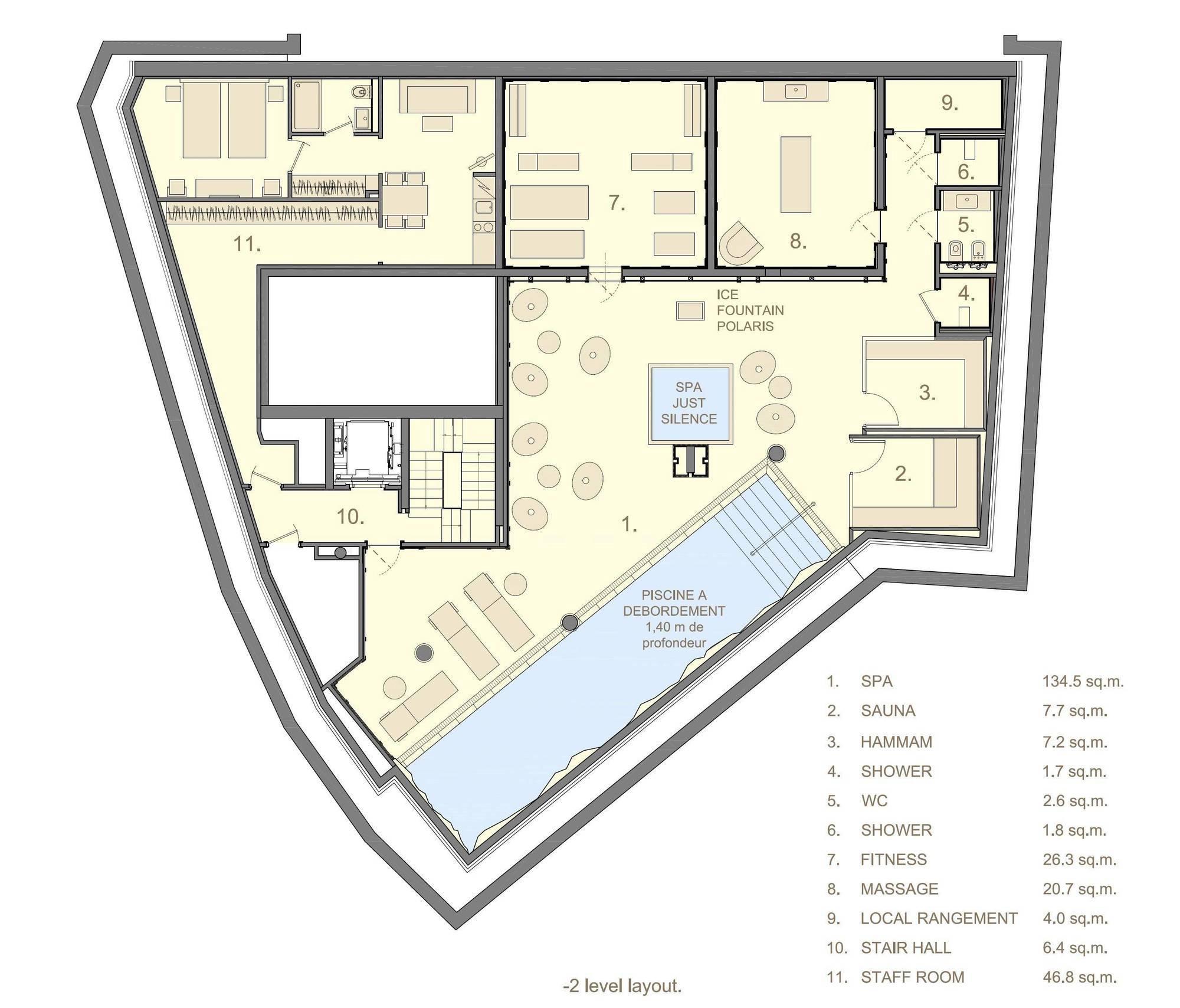 Chalet La Datcha Courchevel Floor Plan 5