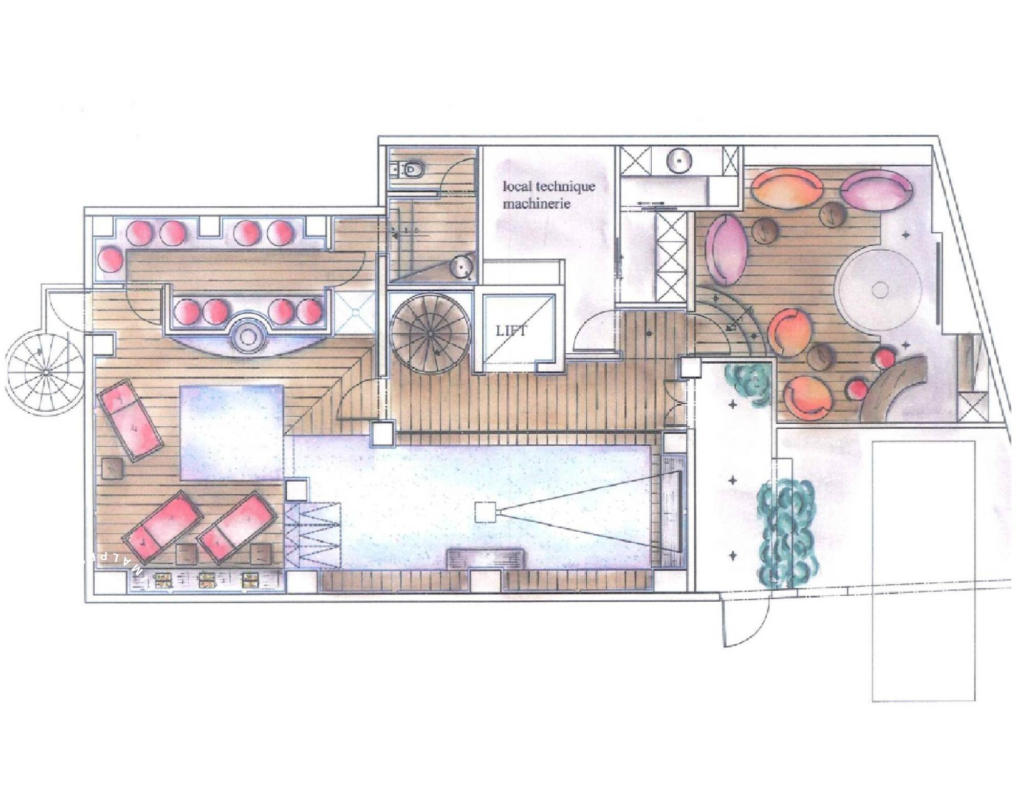 Chalet Eglantier Courchevel Floor Plan 1