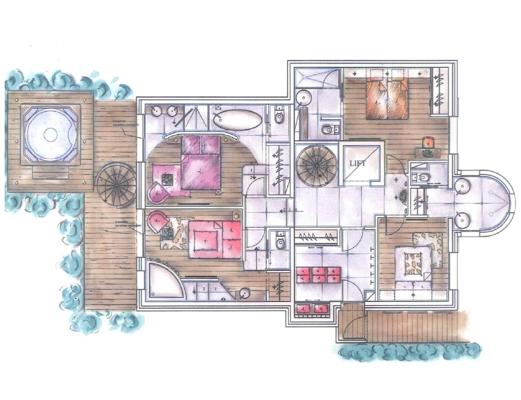 Chalet Eglantier Courchevel Floor Plan 2