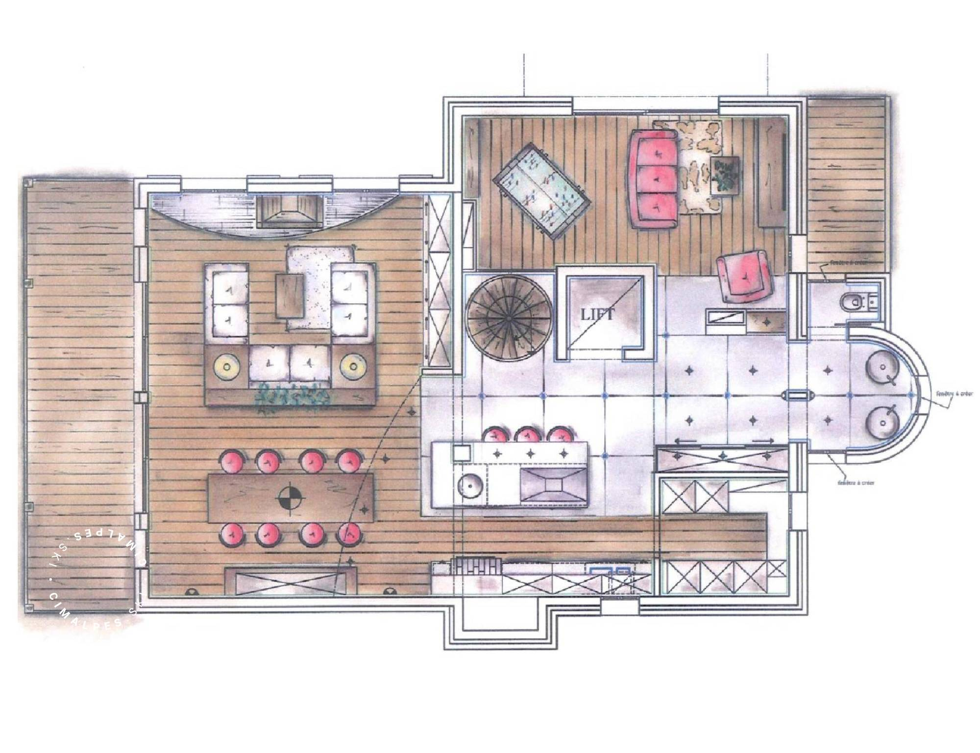 Chalet Eglantier Courchevel Floor Plan 3