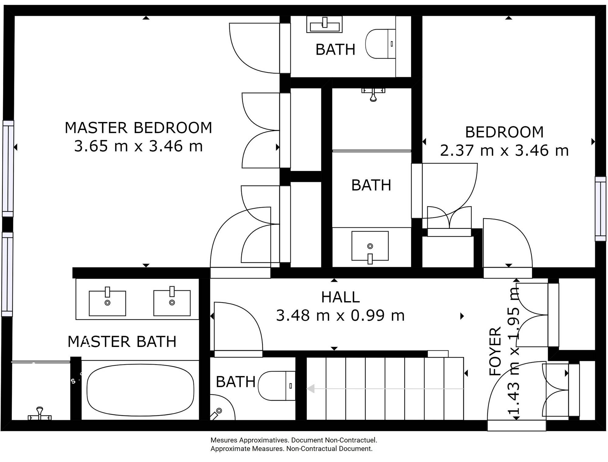 Chalet Silvretta Val d'Isere Floor Plan 1