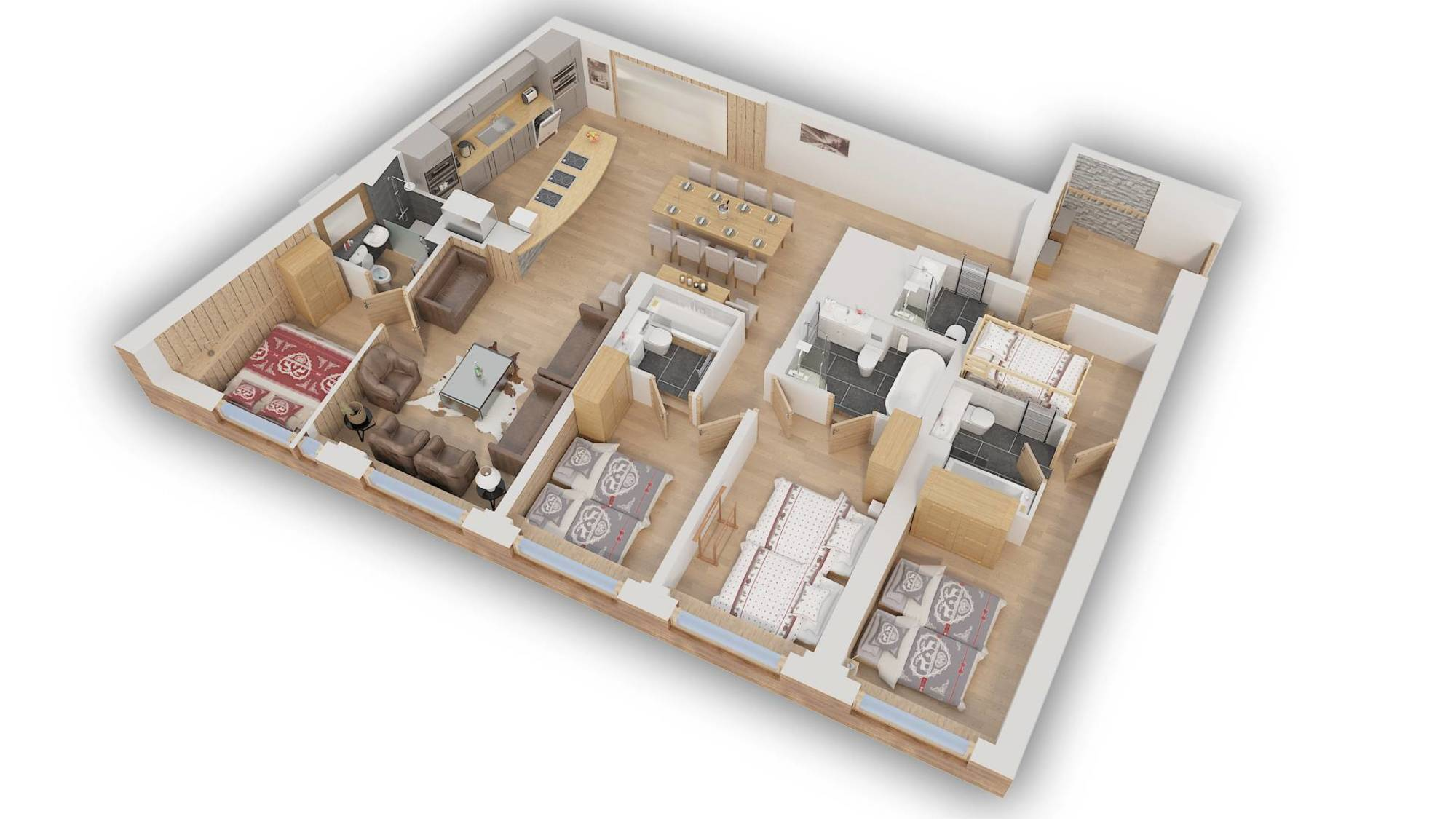 Apartment Val Snow 100 Val d'Isere Floor Plan 1