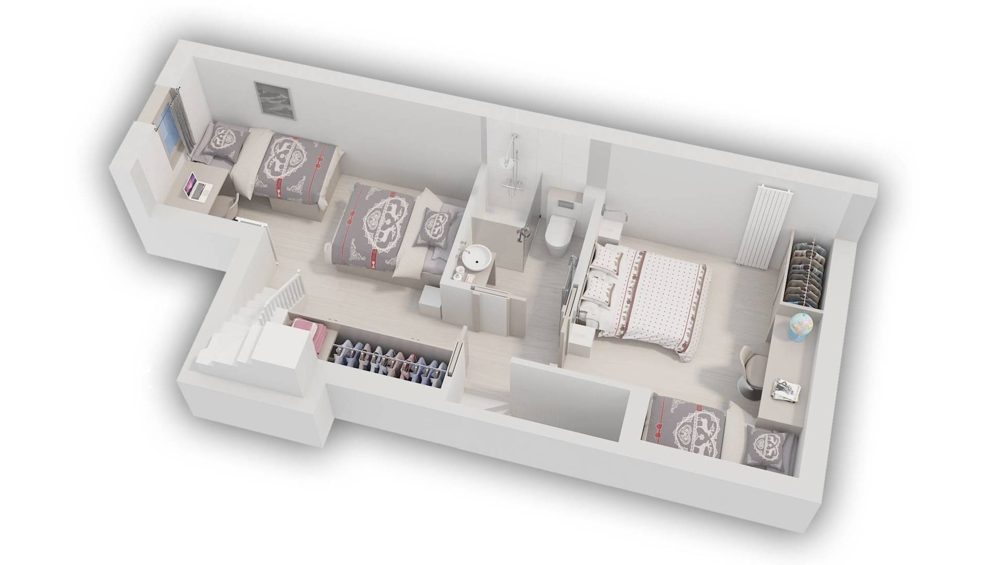 Apartment Pierre et Vacances 209 Val d'Isere Floor Plan 2