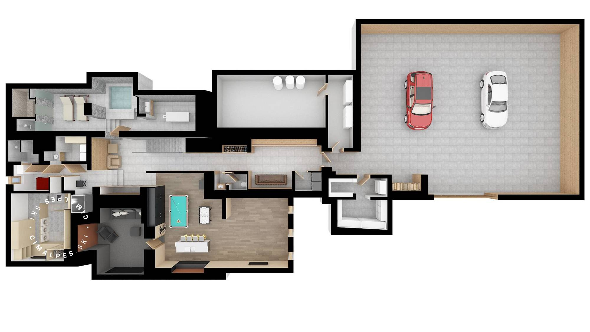 Chalet Des Sens Megeve Floor Plan 2