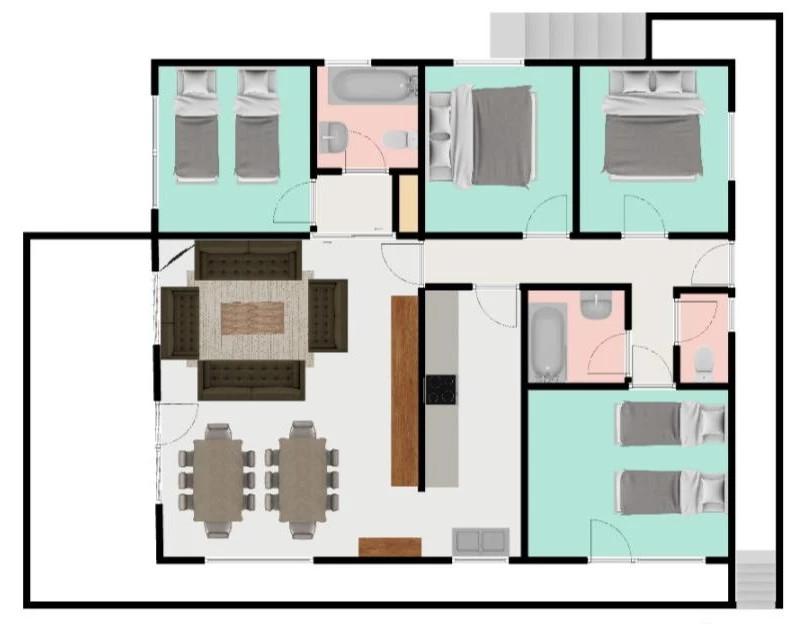 Chalet Josephine Meribel Floor Plan 1