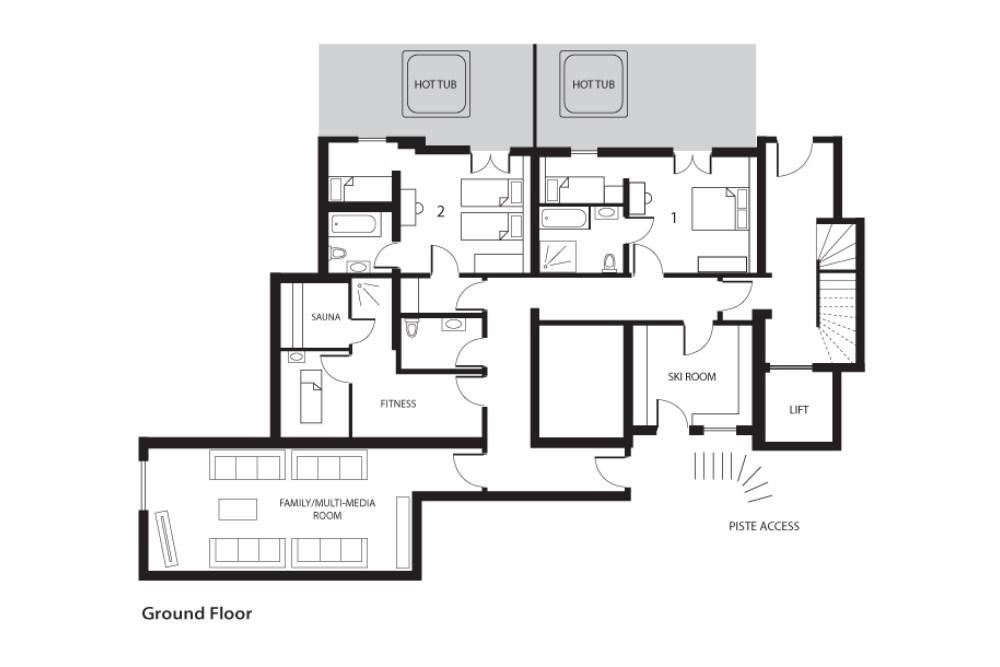 Altitude Lodge Les Gets Floor Plan 1