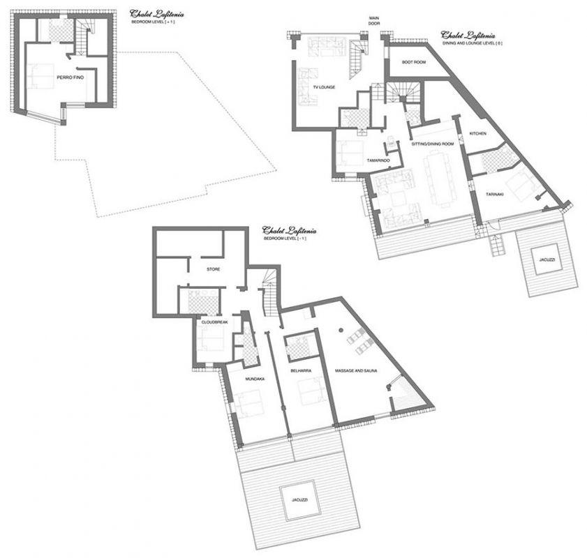 Chalet Lafitenia (B&B) Val d'Isere Floor Plan 1