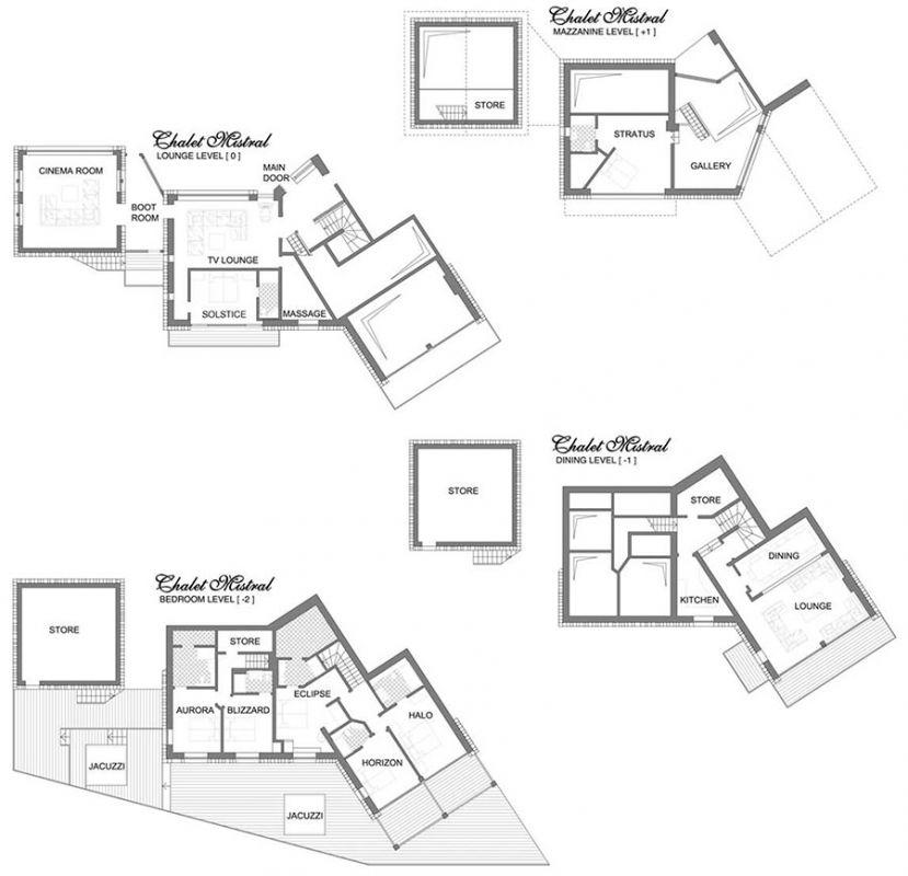 Chalet Mistral (B&B) Val d'Isere Floor Plan 1