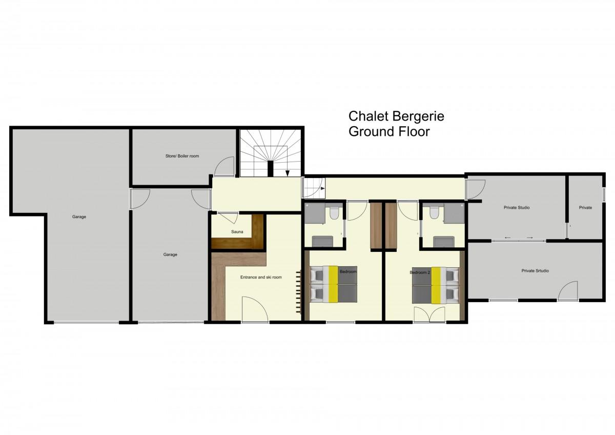 Chalet Bergerie Meribel Floor Plan 1