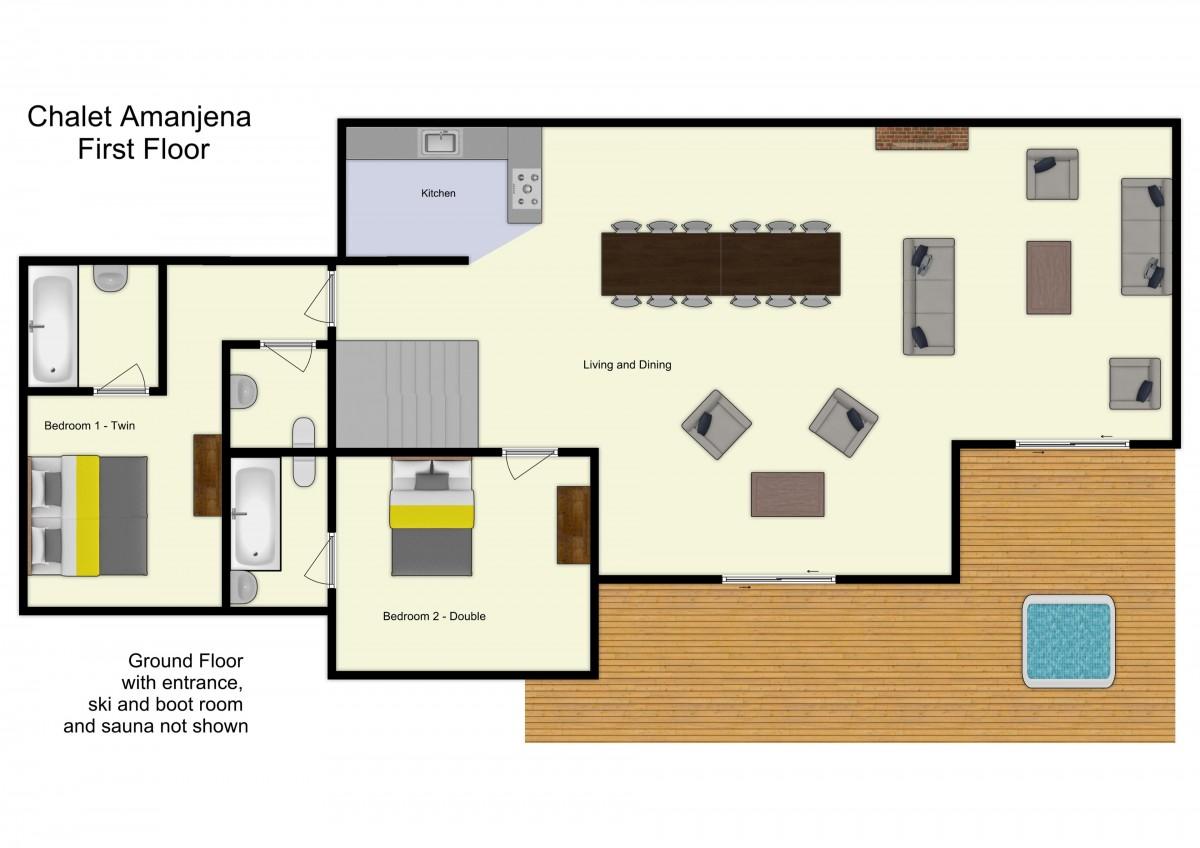 Chalet Amanjena Meribel Floor Plan 2
