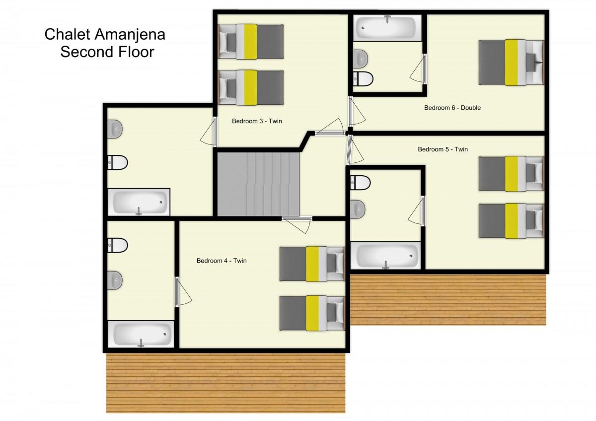 Chalet Amanjena Meribel Floor Plan 1