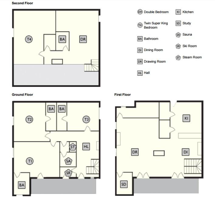 Chalet Val Pierre Val d'Isere Floor Plan 1
