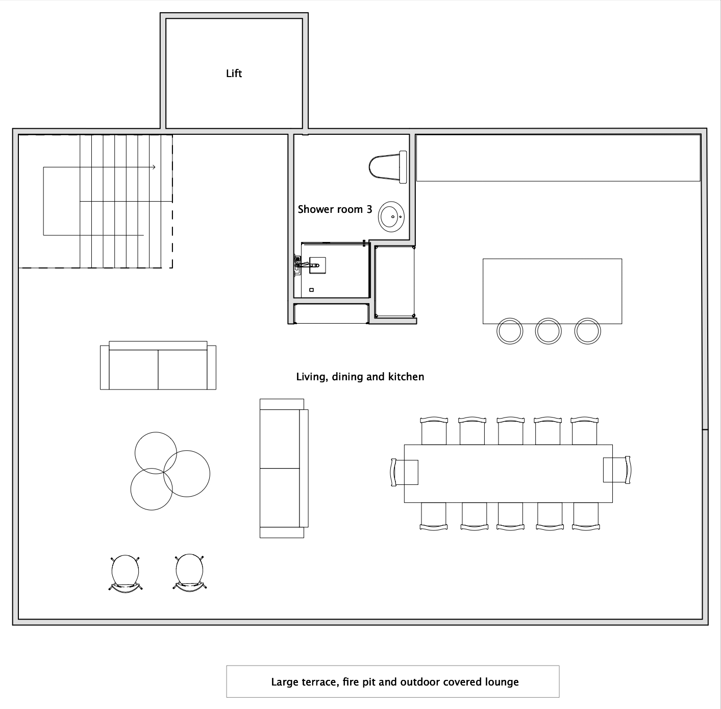 Chalet V (Self-Catered) Verbier Floor Plan 4
