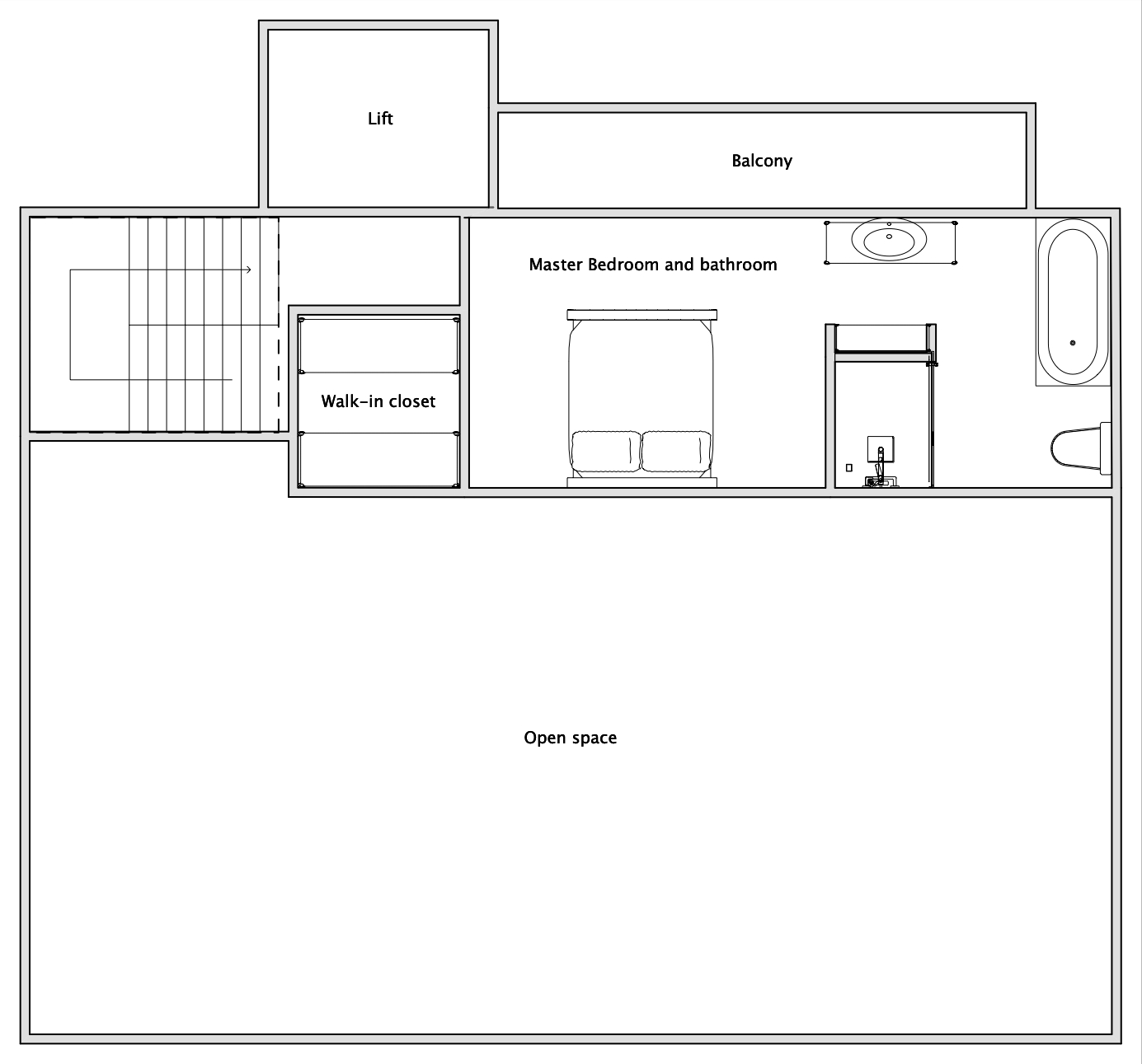 Chalet V (Self-Catered) Verbier Floor Plan 3