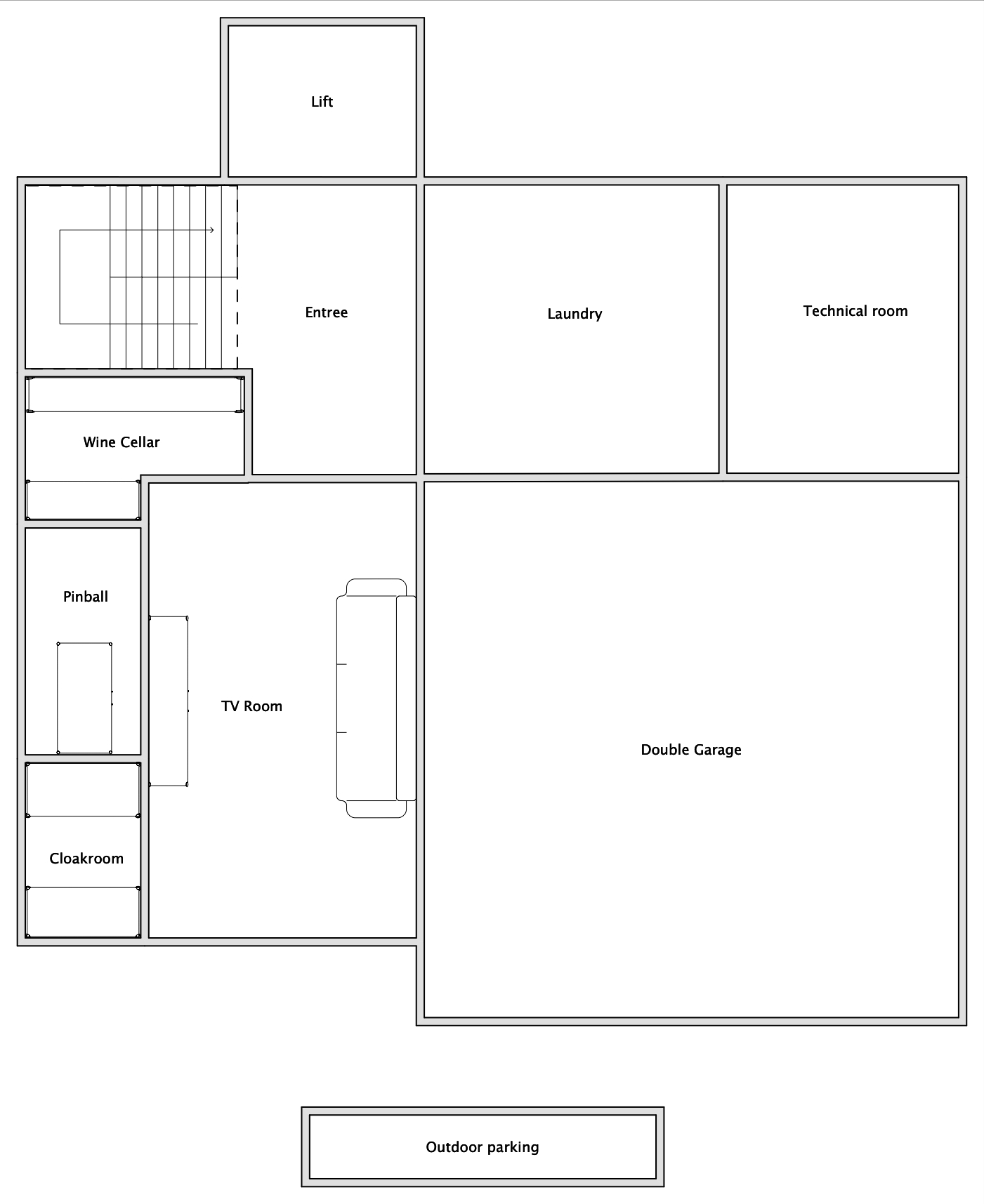 Chalet V (Self-Catered) Verbier Floor Plan 2