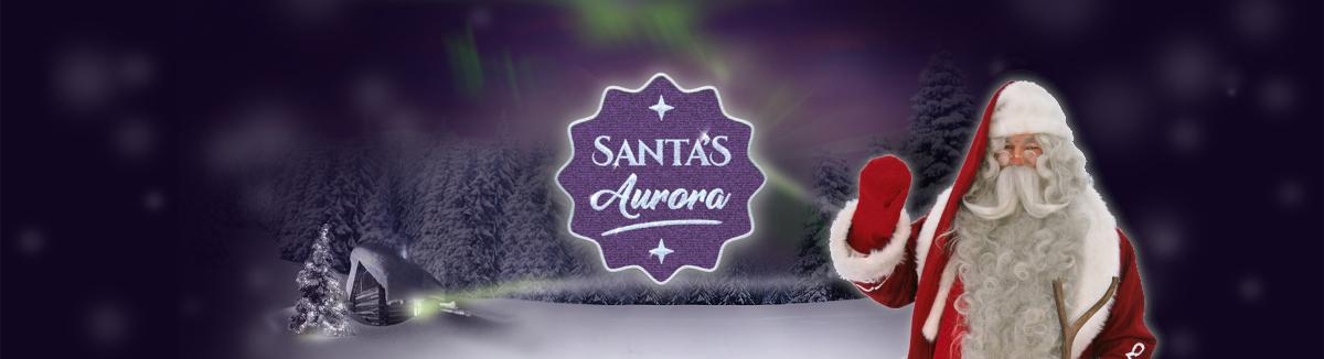 Santa's Aurora Banner