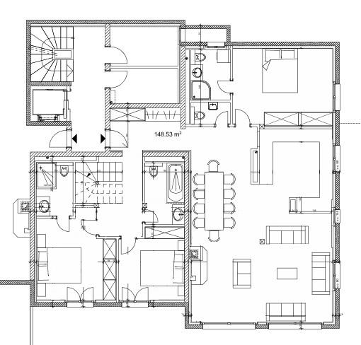 Chalet Alrou Verbier Floor Plan 2