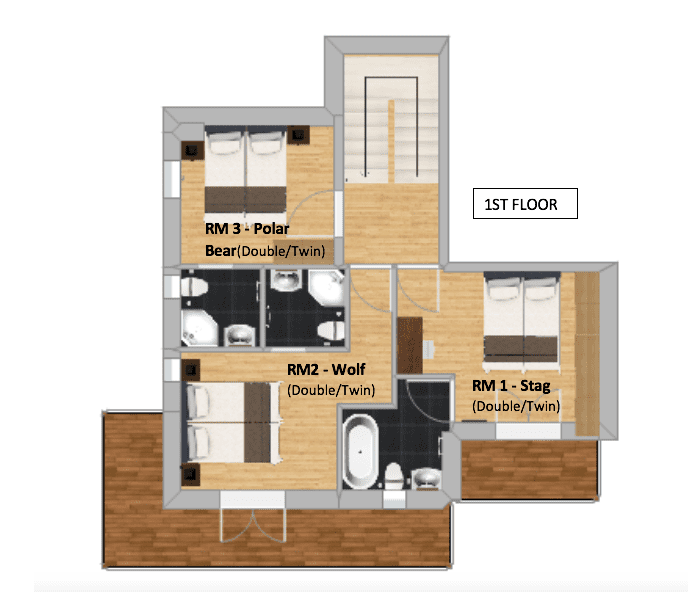 Chalet Herisson La Tania Floor Plan 1