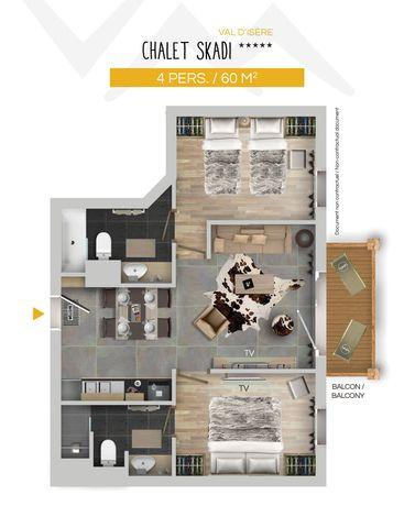 Chalet Skadi Apartments (Family) Val d'Isere Floor Plan 2