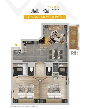 Chalet Skadi Apartments (Family) Val d'Isere Floor Plan 1