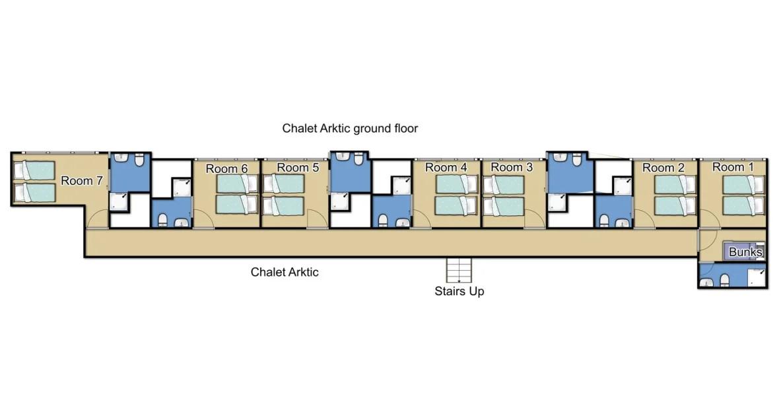 Chalet Arktic (Family) Tignes Floor Plan 2