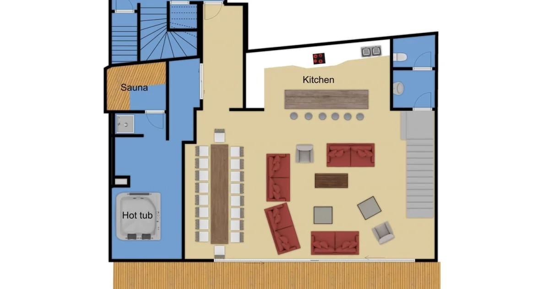 Chalet Arktic (Family) Tignes Floor Plan 1