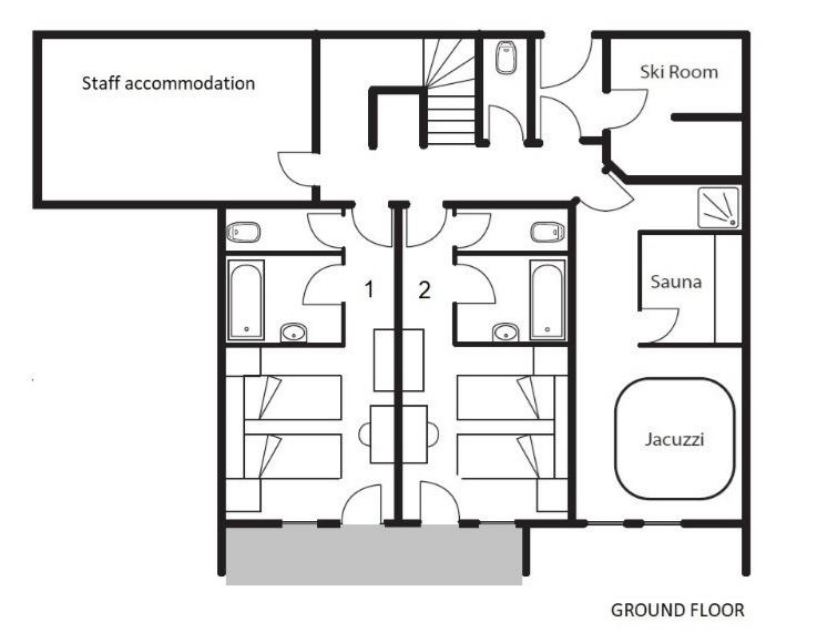 Chalet La Chapelle (Contactless Chalet Catering) Alpe d'Huez Floor Plan 3