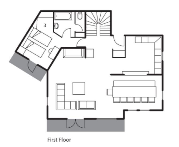 Chalet Le Chateau (Contactless Chalet Catering) Alpe d'Huez Floor Plan 2