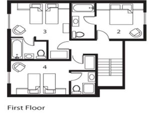 Chalet Davos (Contactless Chalet Catering) Val d'Isere Floor Plan 1