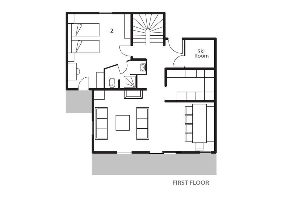 Chalet La Maison (Contactless Chalet Catering) Alpe d'Huez Floor Plan 1