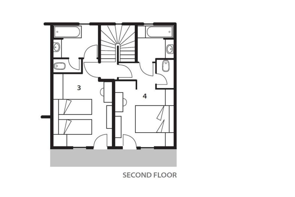 Chalet La Maison (Contactless Chalet Catering) Alpe d'Huez Floor Plan 3