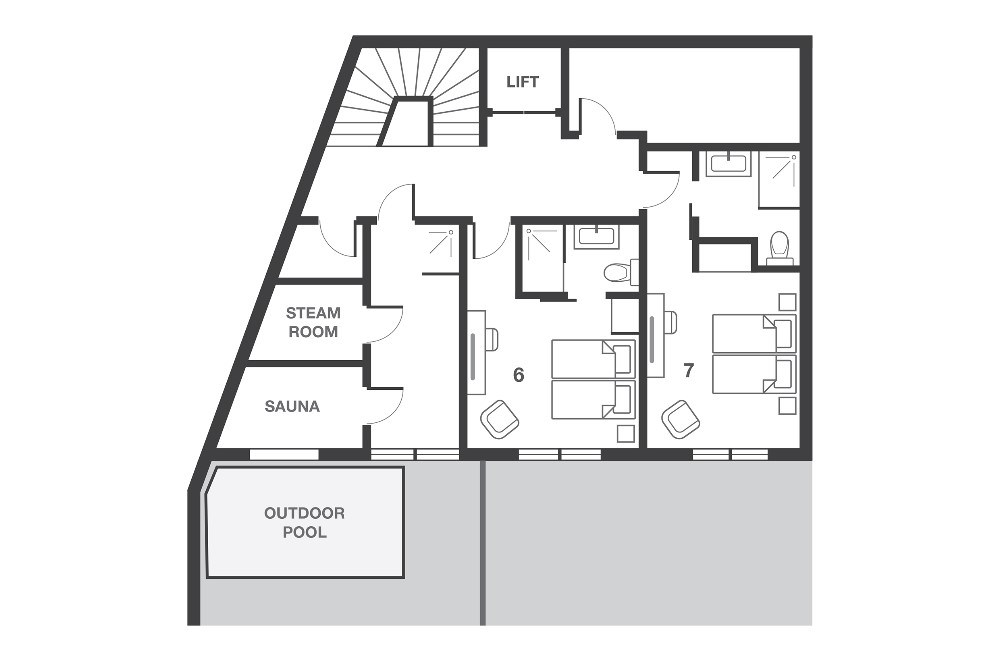No.7 Club Bellevarde Val d'Isere Floor Plan 3