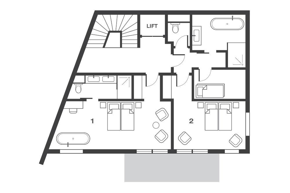 No.7 Club Bellevarde Val d'Isere Floor Plan 1