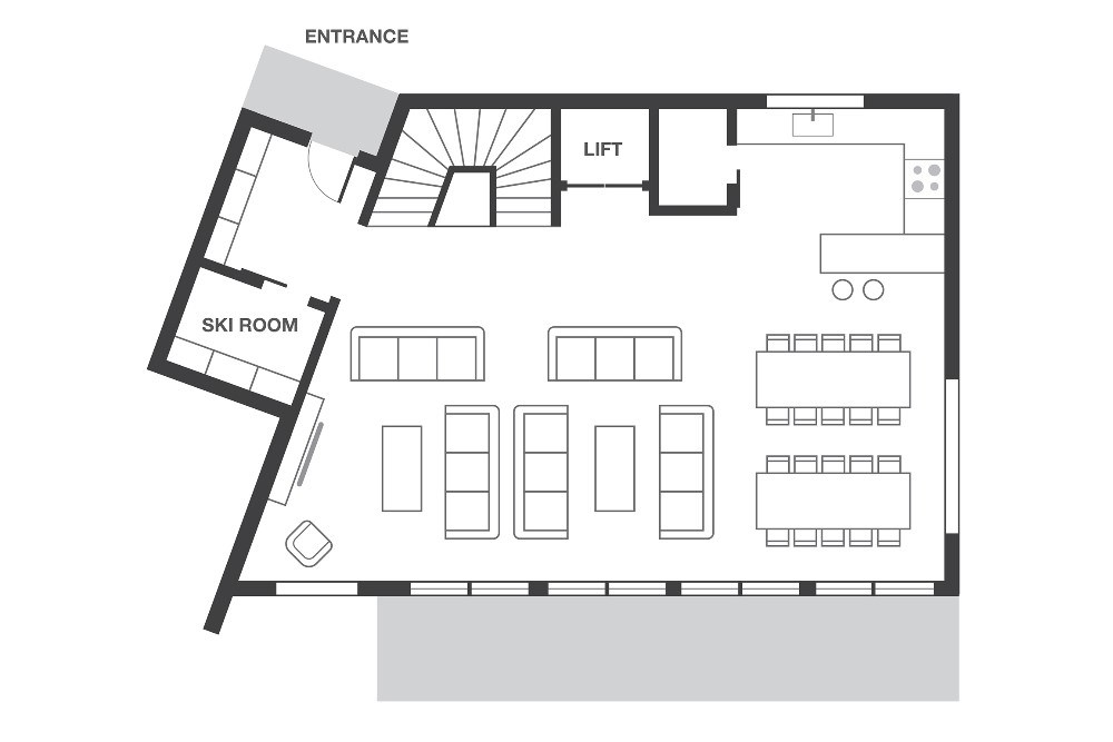 No.7 Club Bellevarde Val d'Isere Floor Plan 2