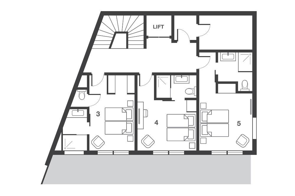 No.7 Club Bellevarde Val d'Isere Floor Plan 4
