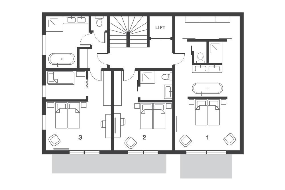 No.8 Club Bellevarde Val d'Isere Floor Plan 2