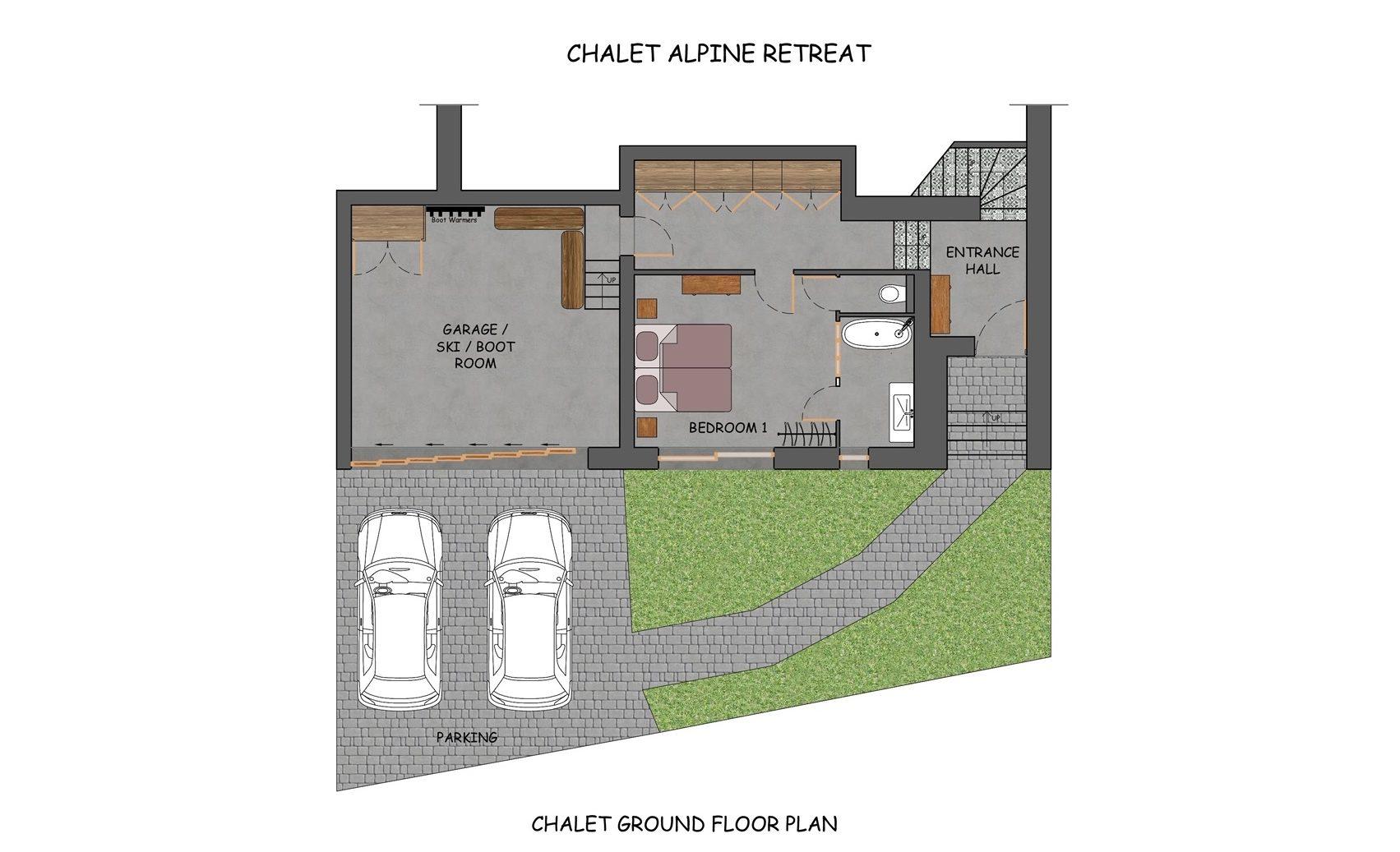 Alpine Retreat Morzine Floor Plan 2