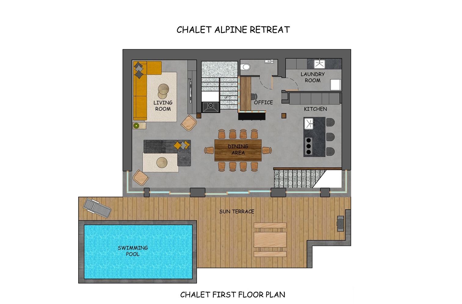 Alpine Retreat Morzine Floor Plan 1