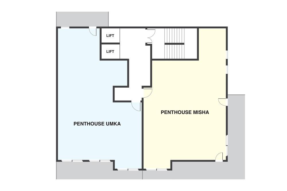 Penthouse Umka Les Arcs Floor Plan 1