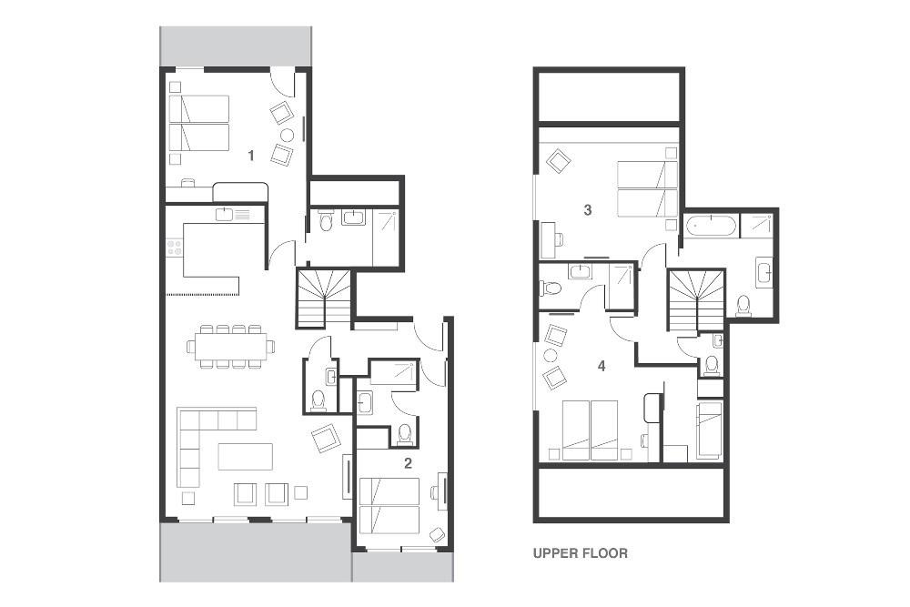Penthouse Umka Les Arcs Floor Plan 2