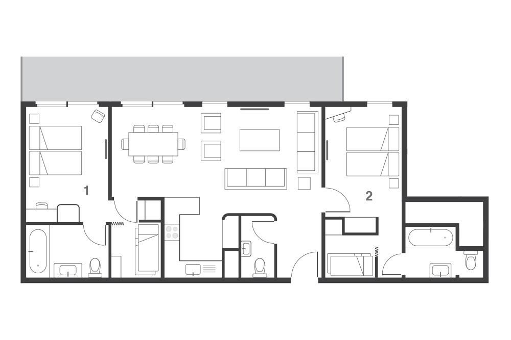 Suite Choko Les Arcs Floor Plan 2