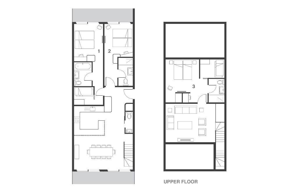 Suite Grizzly Les Arcs Floor Plan 1