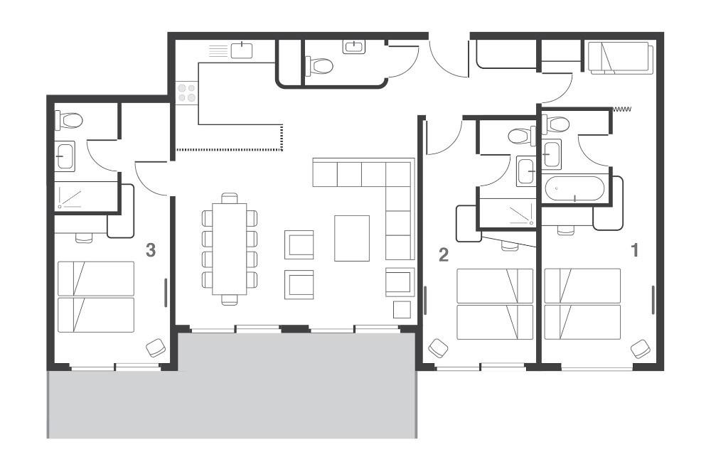 Suite Oso Les Arcs Floor Plan 2
