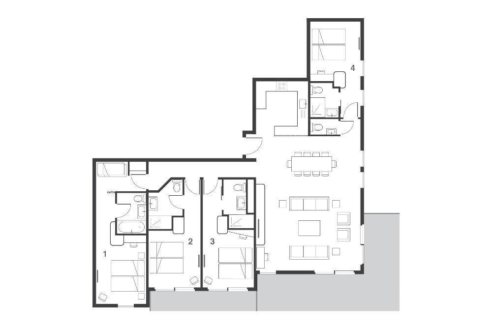 Suite Yogi Les Arcs Floor Plan 2