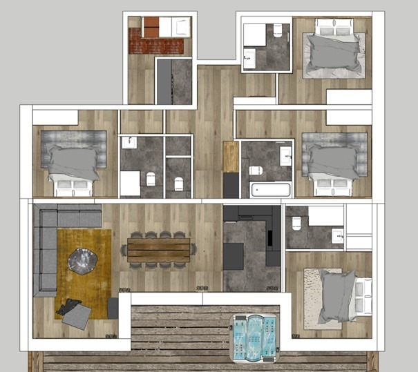 Le Malamute Morzine Floor Plan 1