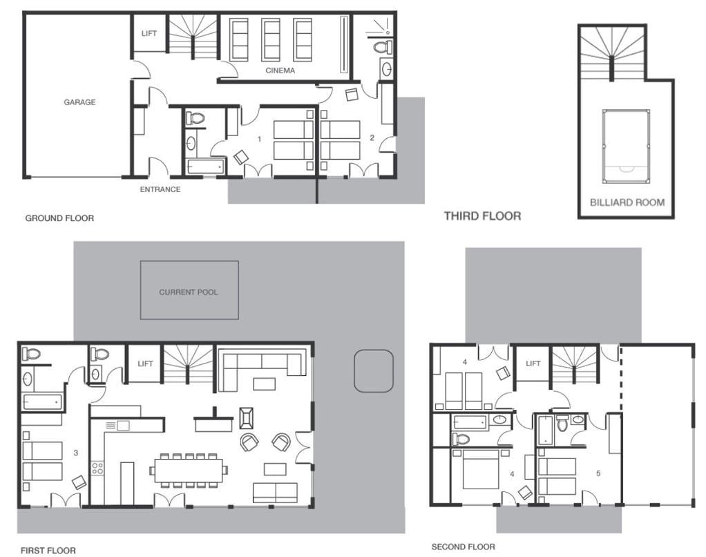 Bellacima Lodge Meribel Floor Plan 1