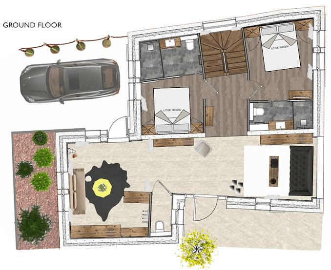 Chalet White Courchevel Floor Plan 4