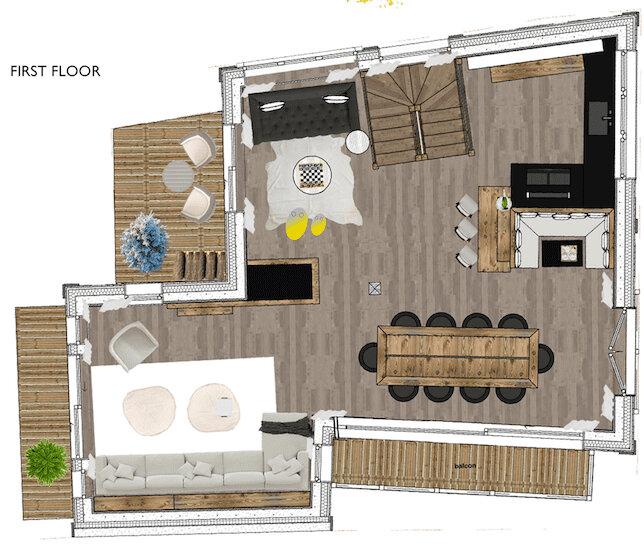 Chalet White Courchevel Floor Plan 2